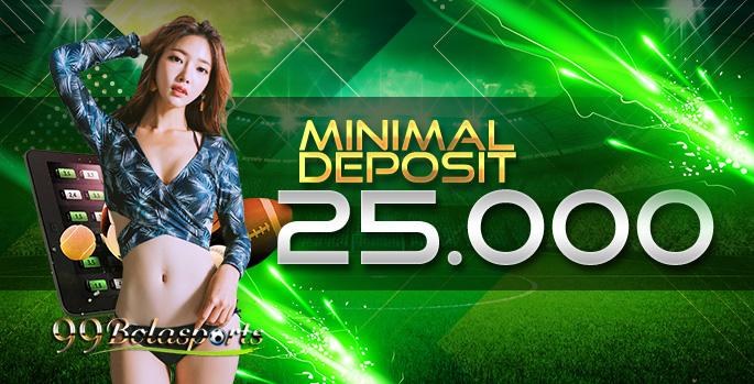 Minimal deposit 25rb
